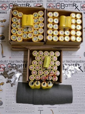Battrx Contractor Packs - Rebuild Ten 18V NiCad Battery Packs