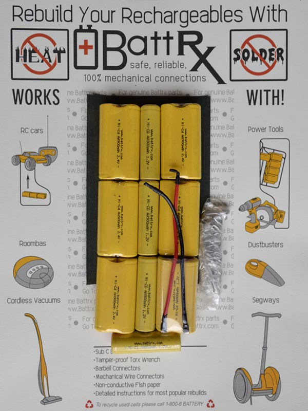 Battrx 15.6V NiCad 900 MAH C Rechargeable Battery Repair